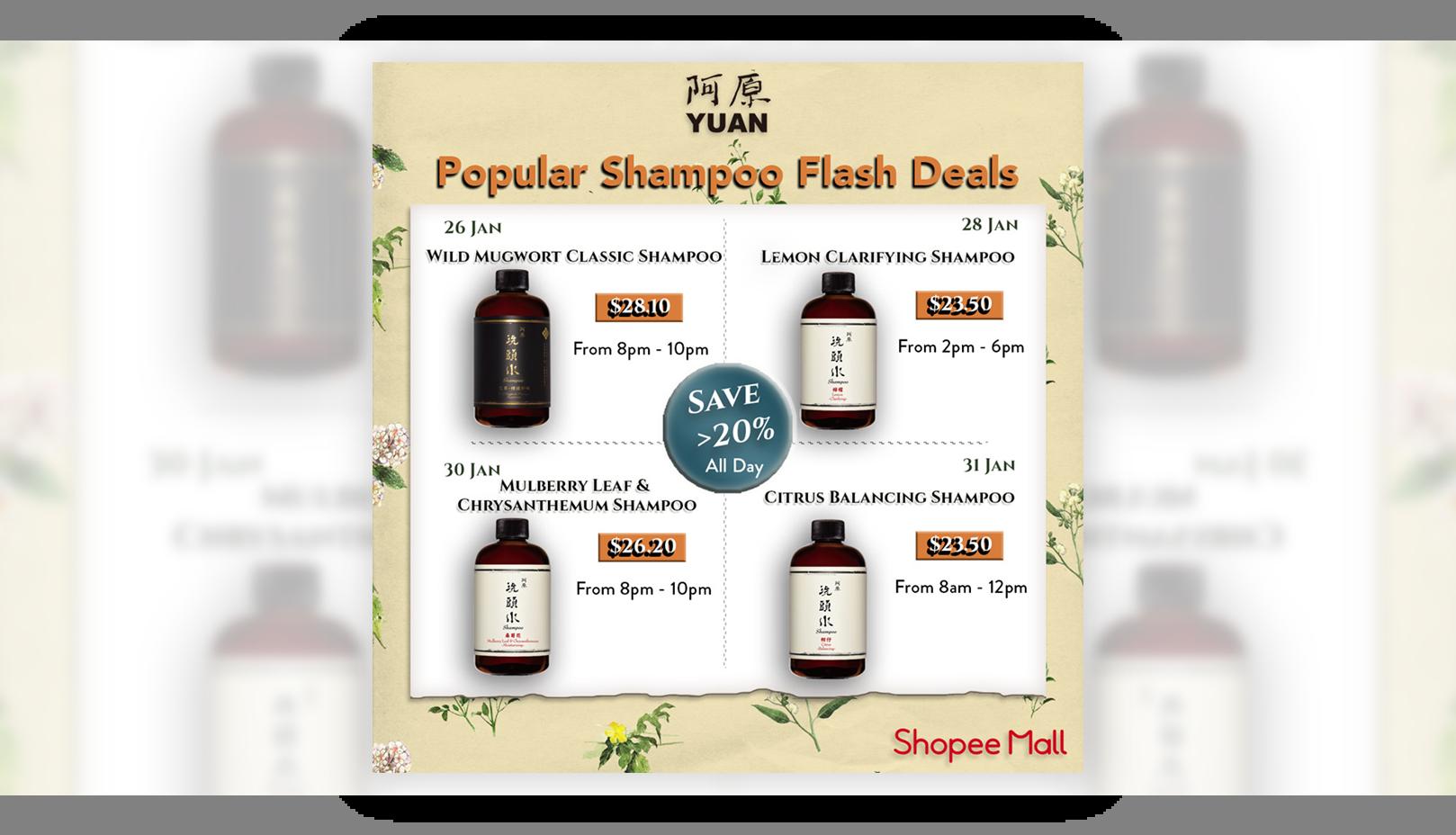 yuan skincare shampoo flash deals on shopee mall this 2021 january