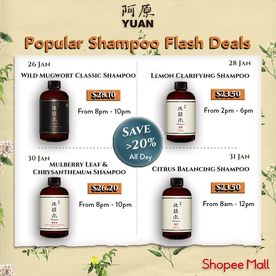 yuan skincare shampoo flash deals on shopee this january 2021